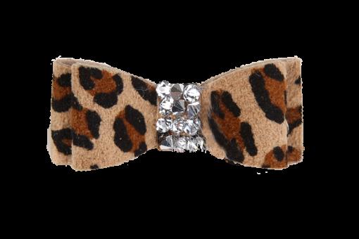 Crystal Rocks Cheetah Couture Hair Bow