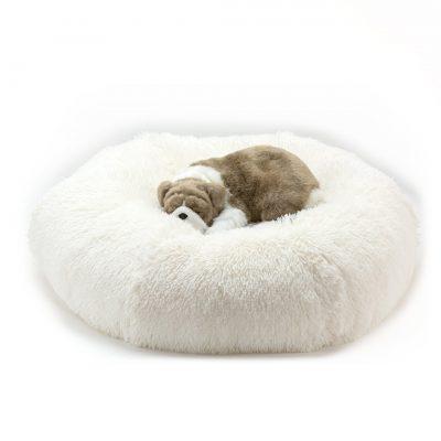 Cream Shag Bed