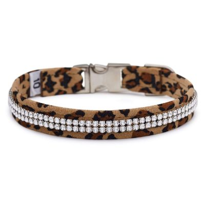 Cheetah 2 Row Giltmore Perfect Fit Collar