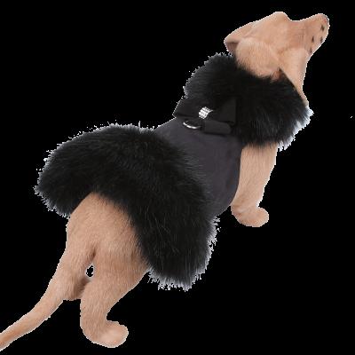 Black Fox Fur Coat with Nouveau Bow