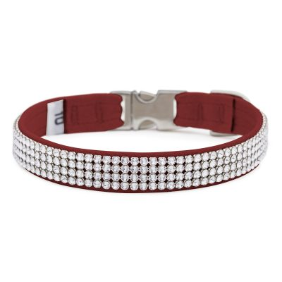 Burgundy 4 Row Giltmore Perfect Fit Collar