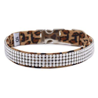 Cheetah 4 Row Giltmore Perfect Fit Collar
