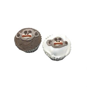 Sock Monkey Mini Cupcakes (Shelf Stable) case of 15