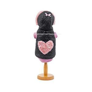 Pink Pearl Heart Dog Coat