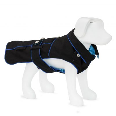 F&R for VP Pets 5th Avenue Coat - Black/Blue