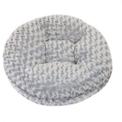 Light Grey Rosebud Bagel Bed