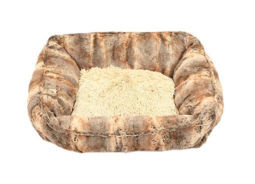 Red Fox with Camel Shag Lounge Bed