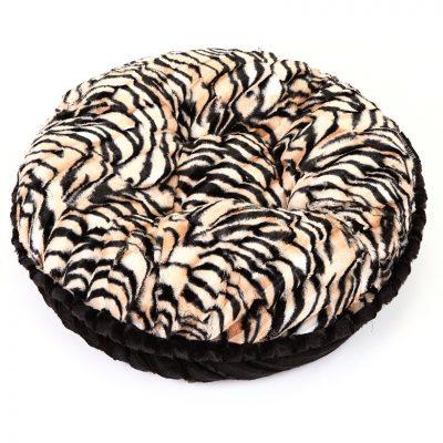 Tiger & Black Mink Bagel Bed