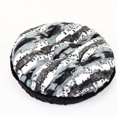 Exotic Black/Grey with Black Mink Bagel Bed