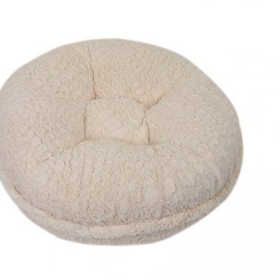 Crocodile Cream Mink Bagel Bed
