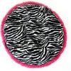 Zebra & Hot Pink Shag Bagel Bed