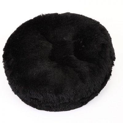 Black Shag Bagel Bed