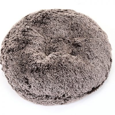 Chocolate Frosted Shag Bagel Bed