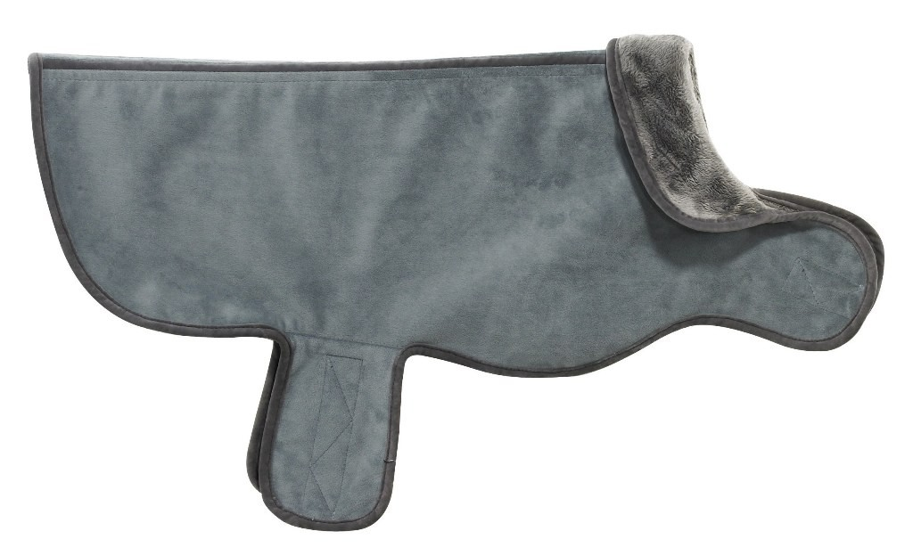 Designer Dog Coat Elephant Blue