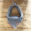 Fossil: Grey Linen Dog Bandana