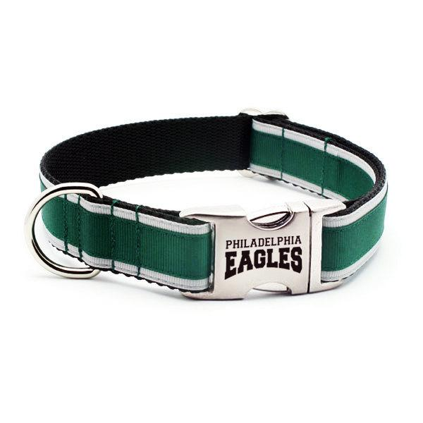 a638dc666 Philadelphia Eagles Dog Collar with Laser Etched Aluminum Buckle ...