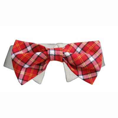 Red Checker Bow Tie