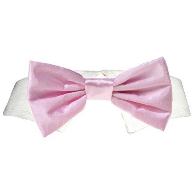 Pink Satin Bow Tie