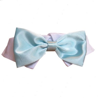 Aqua Satin Bow Tie