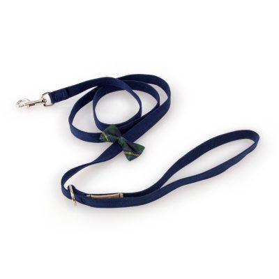 Scotty Leash Forrest Plaid Bow Tie