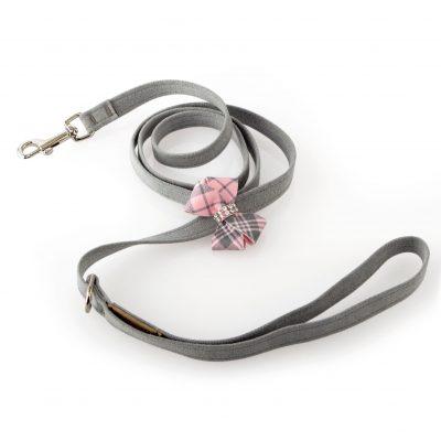 Scotty Leash Puppy Pink Plaid Nouveau Bow