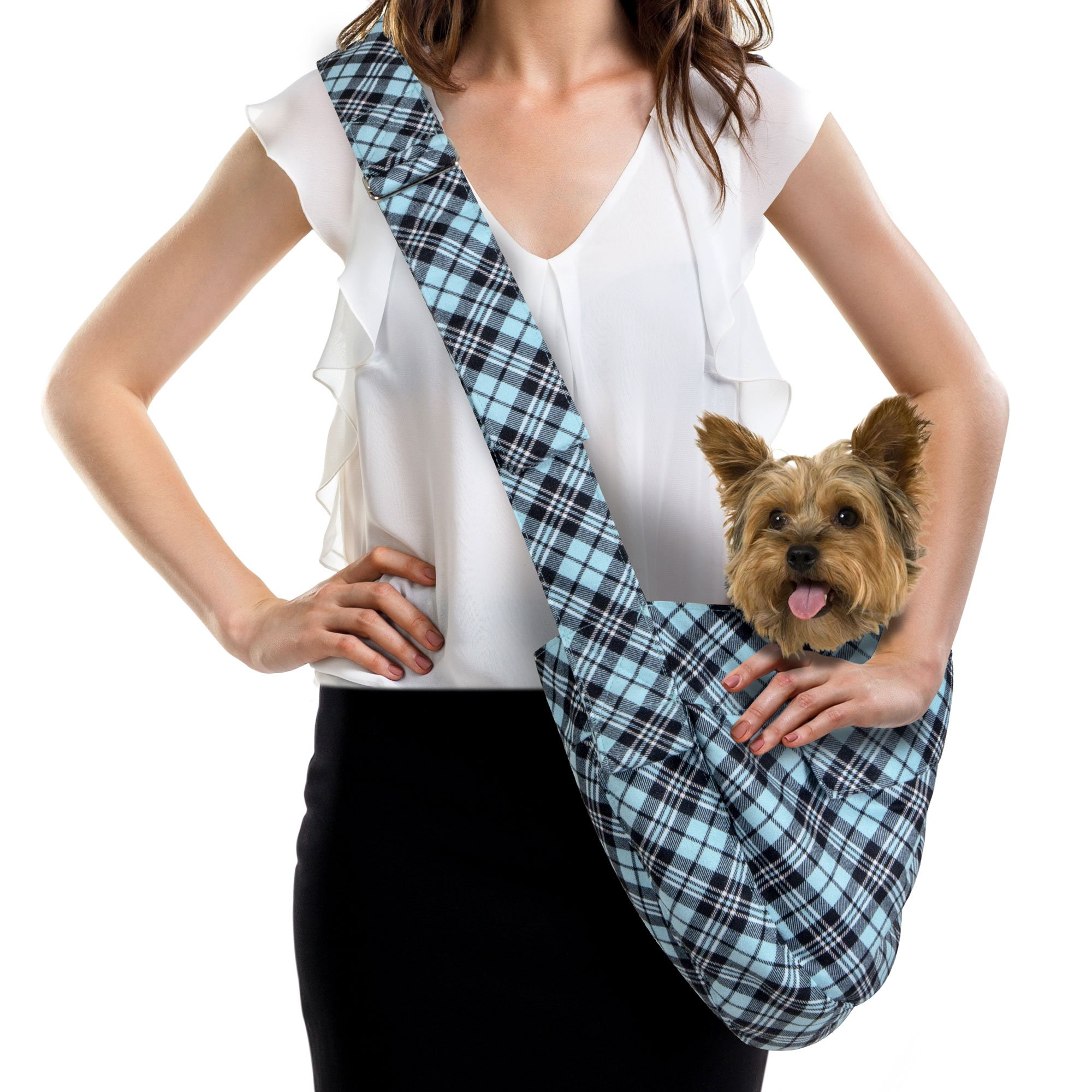 SUSAN LANCI SCOTTY TIFFI PLAID CUDDLE CARRIER