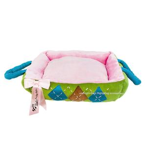 Puch And Green Tartan Dog Bed