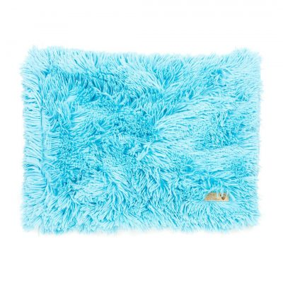 Aqua Shag Blanket