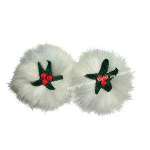 Xmas Mistletoe Dog Hair Clip