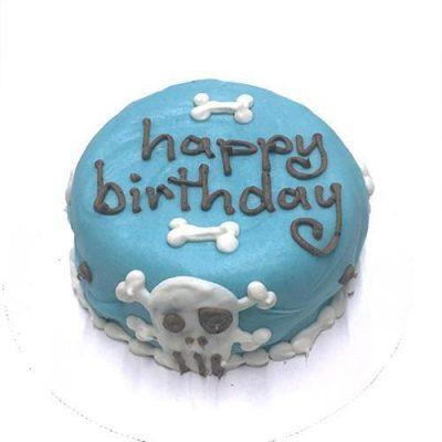 Blue Skull Cake (Personalized) (Perishable)