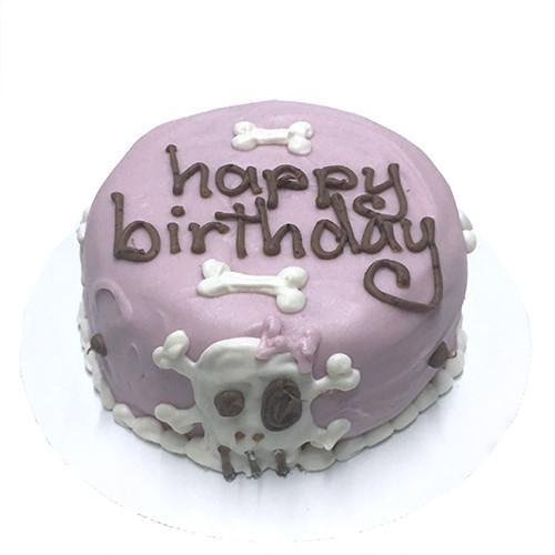 Pink Skull Cake (Personalized) (Perishable)