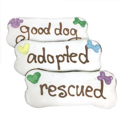 Adopted / Rescued / Good Dog Bones (case of 12)