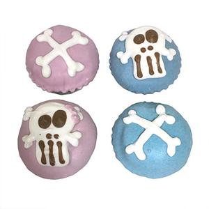 Punk Rock Skull Mini Cupcakes (Shelf Stable) case of 15