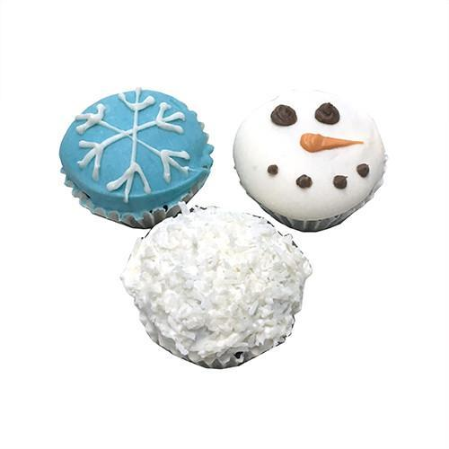 Snowy Mini Cupcakes (Shelf Stable) case of 15