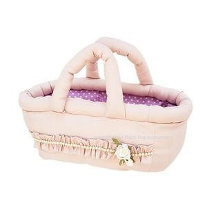 Fairytale Baby Pink Basket Bag Dog Carrier