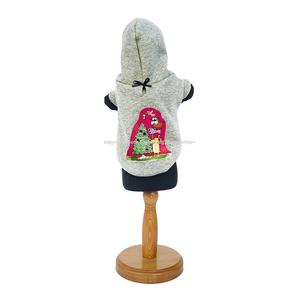 Xmas Tree Hooded Dog Pullover