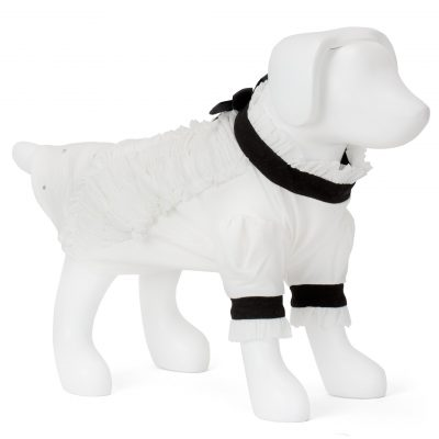 F&R for VP Pets Giggy Ruffle Dress Shirt - White