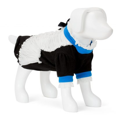 F&R for VP Pets Giggy Ruffle Dress Shirt - Blue/Black