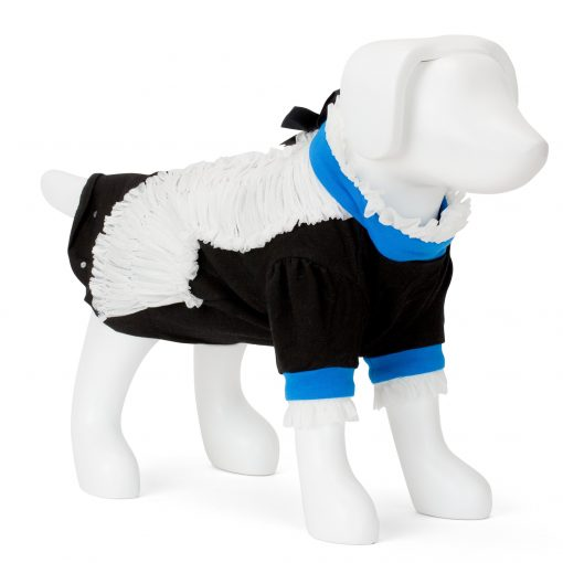 F&R for VP Pets Giggy Ruffle Dress Shirt - Blue/Black