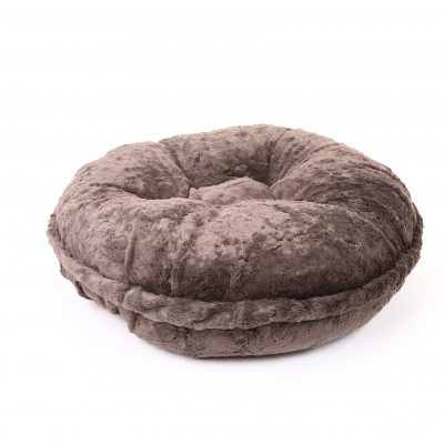 Grey Mink Bagel Bed