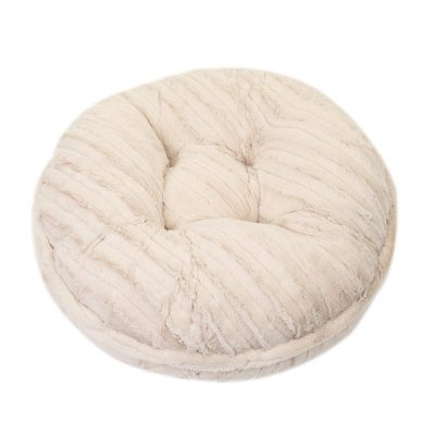 Cream Mink Bagel Bed