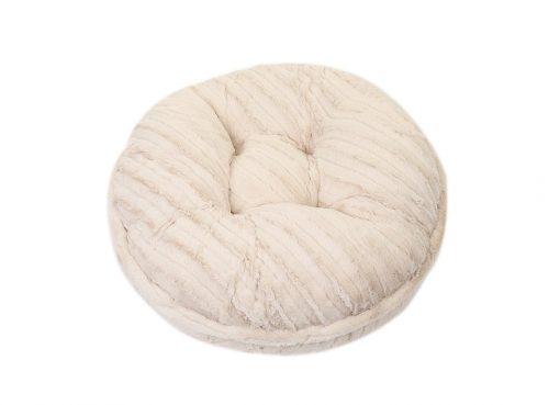 Cream Mink Bagel Bed