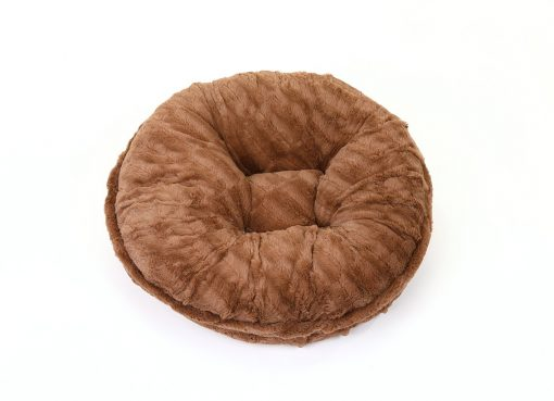Capuccino Mink Bagel Bed