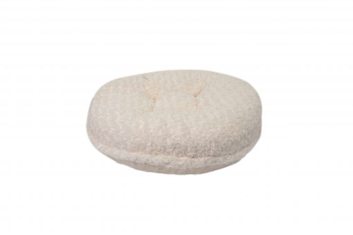 Cream Rosebud Bagel Bed