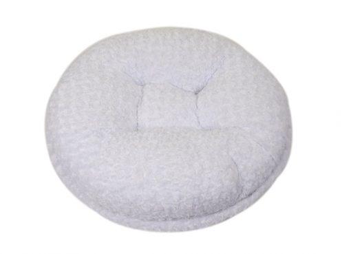 White Rosebud Bagel Bed