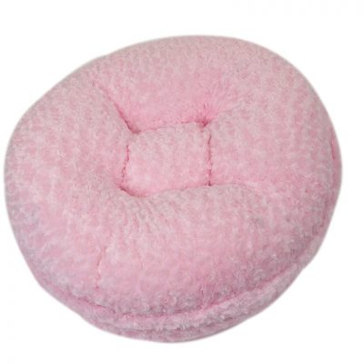 Light Pink Rosebud Bagel Bed