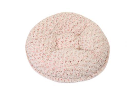 Baby Pink/ Beige Rosebud Bagel Bed