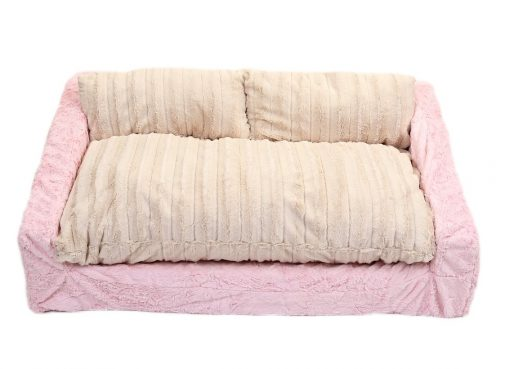 Baby Pink Mink & Cream Mink Sofa Bed