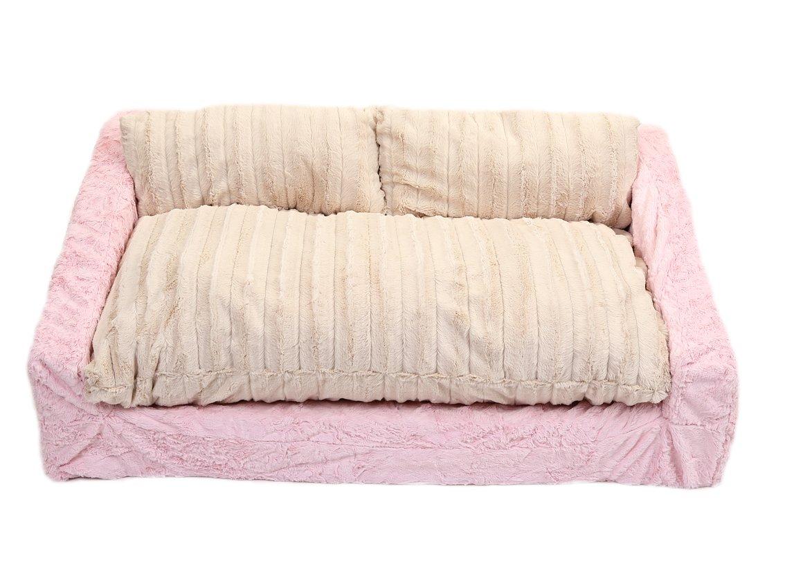 Awe Inspiring Baby Pink Mink Cream Mink Sofa Bed Machost Co Dining Chair Design Ideas Machostcouk