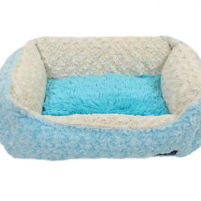 Baby Blue Rosebud with Blue Shag Lounge Bed